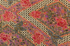 Detailed patterns of Indonesia batik cloth Stock Photo