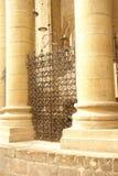 Detailed patterns of Iron gate Stock Photo