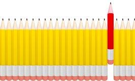 Detailed pencils isolated on white background. Stock Photo