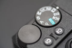 Detailed photo of black camera body with buttons Royalty Free Stock Images