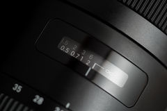 Detailed photo of black lens with buttons Royalty Free Stock Photo