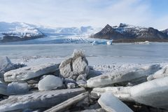 Detailed photo of the Icelandic glacier ice with a incredibly vi. Detailed photo of the Lcelandic glacier ice with a incredibly vivid colors and nice texture royalty free stock images