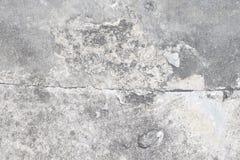 Damaged concrete floor. A detailed photograph on a damaged concrete floor stock image
