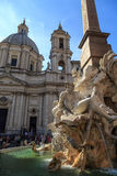 Detailed Piazza Navona View Royalty Free Stock Image