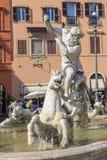 Detailed Piazza Navona View Stock Photo