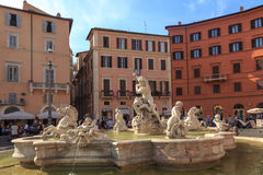 Detailed Piazza Navona View Royalty Free Stock Photos