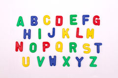 Detailed plastic letters. On a pure white background Royalty Free Stock Image