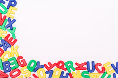 Detailed plastic letters. On a pure white background Stock Photos