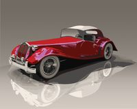 Detailed red convertible vintage car Stock Photos