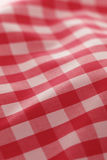 Detailed red picnic cloth. For background use Royalty Free Stock Photo
