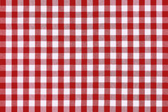 Detailed red picnic cloth Stock Photos