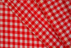Detailed red picnic cloth, background for design Royalty Free Stock Image