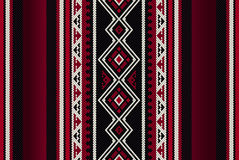 Detailed Red Traditional Folk Sadu Arabian Hand Weaving Pattern Royalty Free Stock Images