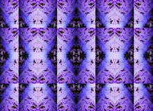INTRICATE REPEAT FACETED PATTERN IN PURPLE AND BLACK Royalty Free Stock Photography