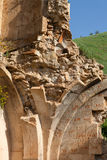 Detailed ruins of Surb Karapet church Royalty Free Stock Photo