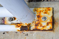 Detailed Rusty corroded metal plate Royalty Free Stock Photography