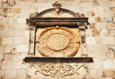 Detailed seal on the Dubrovnik City Walls Stock Photo