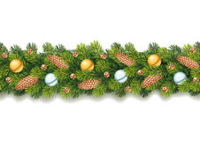 Detailed Seamless Christmas Garland Royalty Free Stock Photography