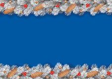 Detailed Seamless Christmas Garland Royalty Free Stock Images