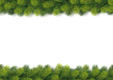 Detailed Seamless Christmas Garland Royalty Free Stock Image