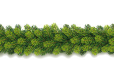 Detailed Seamless Christmas Garland Stock Photo