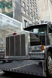 Detailed shot of the front tend of a truck Stock Image