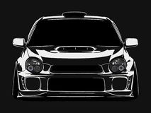 Cool car vector illustration with details and shadow effect royalty free stock photos