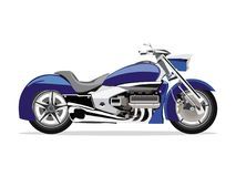 Blue motor bike Royalty Free Stock Photos