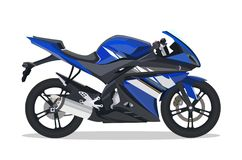 Blue motor bike Royalty Free Stock Images