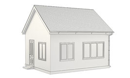 A detailed sketch of house. A detailed sketch of the house to the detailed roof and drain Royalty Free Stock Photo