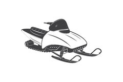 Detailed snowmobile. Travel in the mountains in winter.  Stock Images