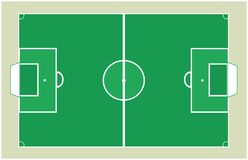 Detailed Soccer field background texture Vector. Soccer green field with brown background Royalty Free Stock Photo