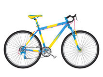 Detailed sport bicycle in trendy flat style. Environmentally urb Royalty Free Stock Image