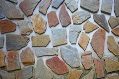 Detailed stone wall background Royalty Free Stock Photography