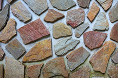 Detailed stone wall background Royalty Free Stock Photos