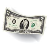 A Detailed, Stylized Drawing of a 2 Dollar Bill. For Print or Web Stock Photo