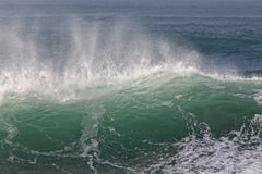 Detailed sunny green wave Royalty Free Stock Images
