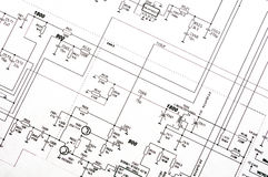 Detailed technical drawing Royalty Free Stock Image