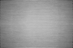 Texture background. Gray perforated metal sheet. Steel plate with holes of a heart shape royalty free stock images