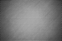 Texture background gray sheet metal perforated. Steel plate with holes stock illustration