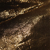 Detailed texture of golden fabric in the dark Royalty Free Stock Photography