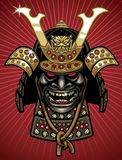 Detailed  of traditional samurai helmet and mask Royalty Free Stock Photos
