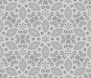 Detailed vector abstract lace pattern with crossing white lines Stock Image