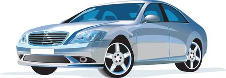 Detailed vector car Royalty Free Stock Images