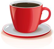 Detailed vector cup of coffe Royalty Free Stock Image