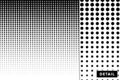 Detailed vector halftone for backgrounds and designs royalty free illustration