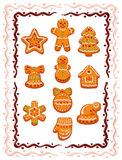 Christmas cookies. Detailed vector illustration for best prints and other uses Stock Photo