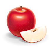 Red apple illustration Royalty Free Stock Photo