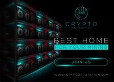 Free Detailed Vector Illustration Of Bitcoin Mining Farm In Dark Room Royalty Free Stock Image - 95482286