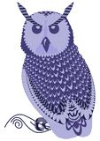 Detailed vector illustration of owl royalty free illustration